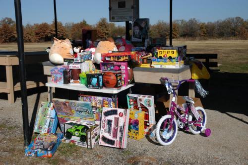 Santa Cops Toys collected